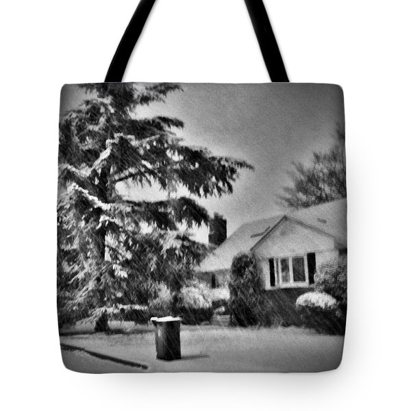 Winter In Black And White Tote Bag by Mikki Cucuzzo