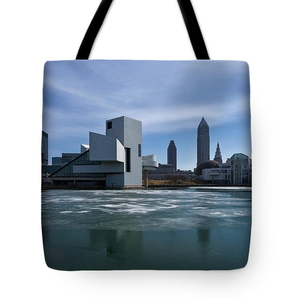 Winter In Cleveland Tote Bag by Dale Kincaid