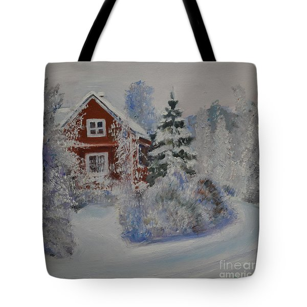 Winter In Finland Tote Bag
