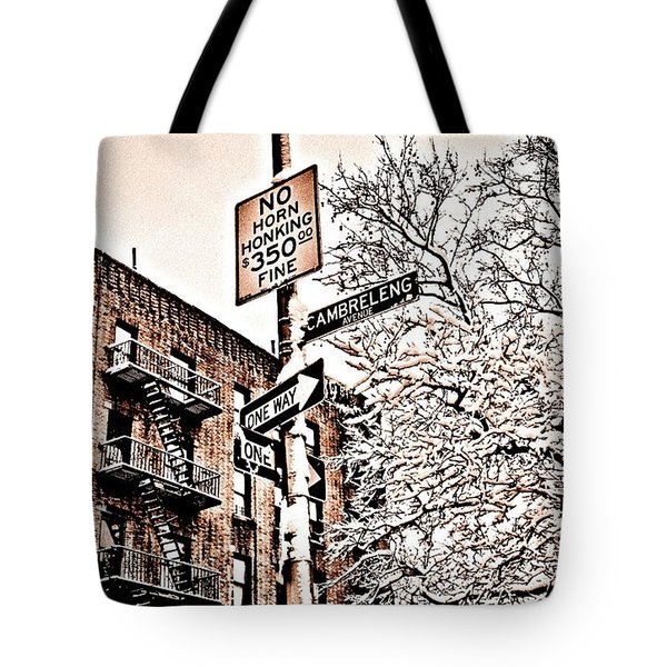 Winter In The Bronx Tote Bag