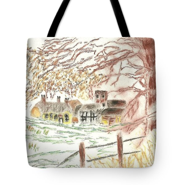 Winter In The Village Tote Bag