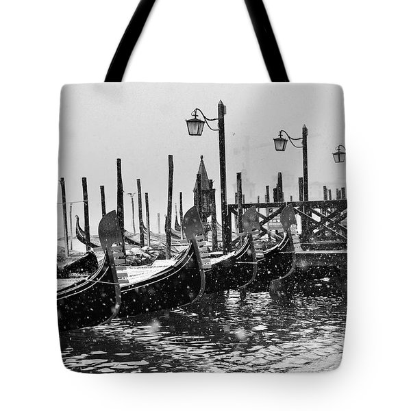 Winter In Venice Tote Bag