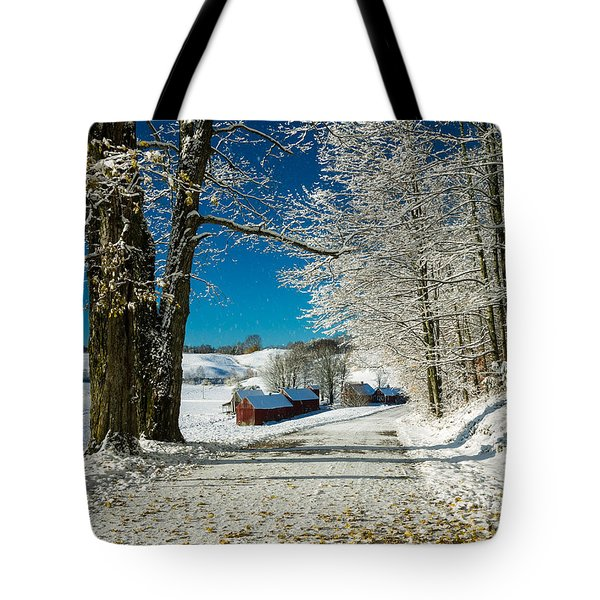 Winter In Vermont Tote Bag by Edward Fielding