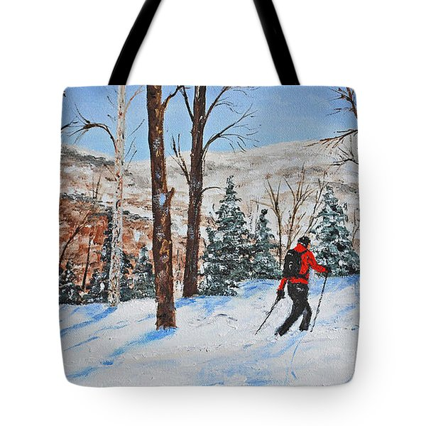 Winter In Vermont Woods Tote Bag