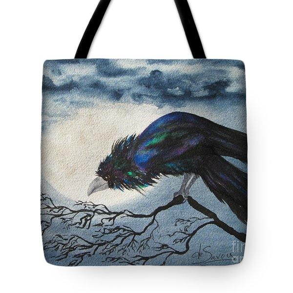 Tote Bag featuring the painting Winter Is Coming by Diane DeSavoy