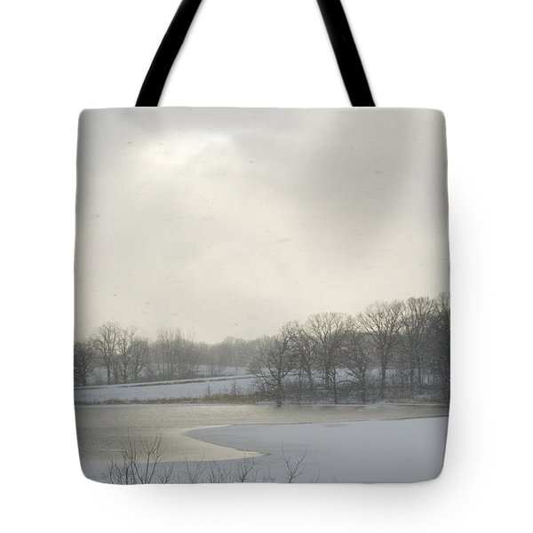 Winter Lake And Forest Tote Bag