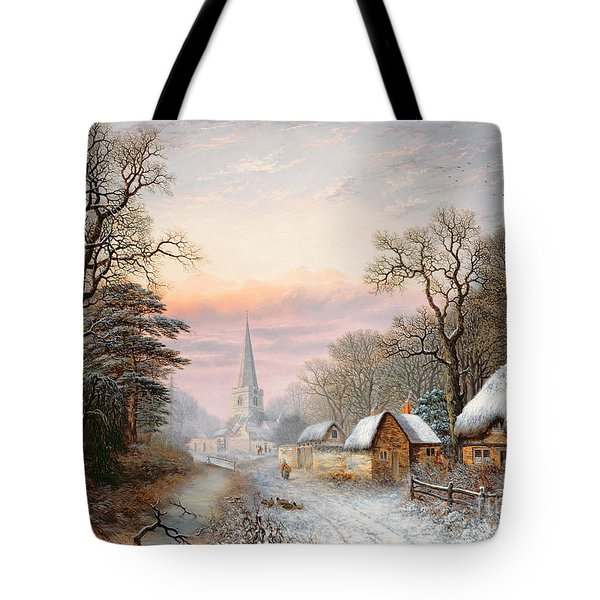 Winter Landscape Tote Bag by Charles Leaver