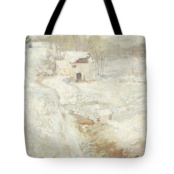 Winter Landscape Tote Bag by John Henry Twachtman