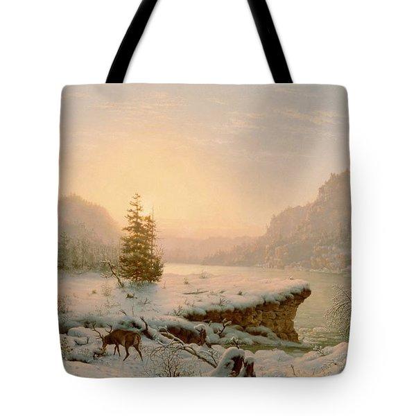Winter Landscape Tote Bag by Mortimer L Smith