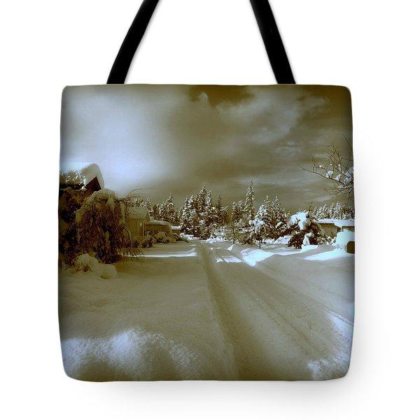 Winter Lane Tote Bag