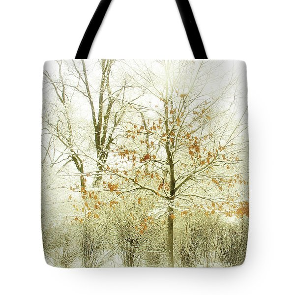 Winter Leaves Tote Bag by Julie Palencia