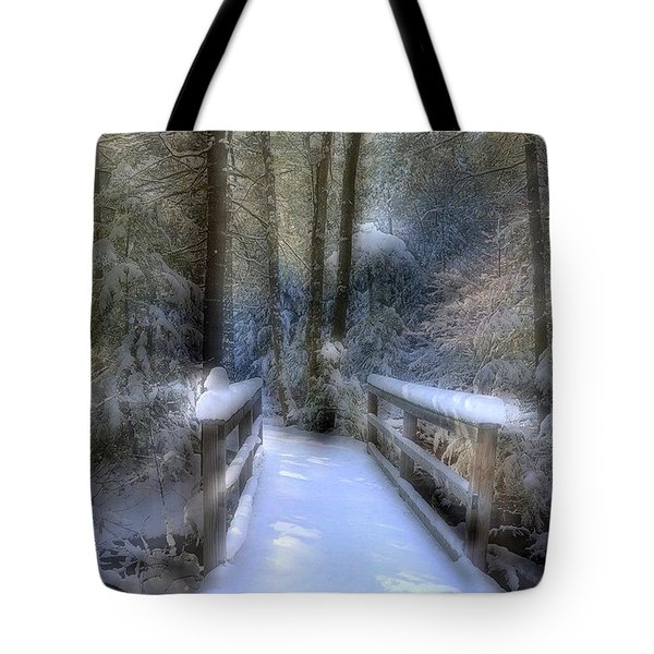 Winter Light On Bridge Tote Bag