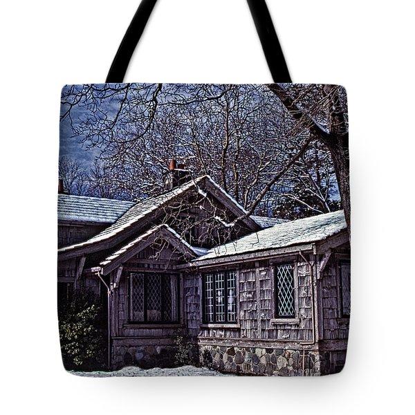 Winter Lodge Tote Bag