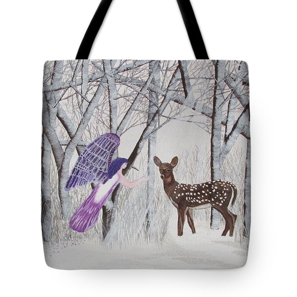 Tote Bag featuring the painting Winter Magic by Cheryl Bailey