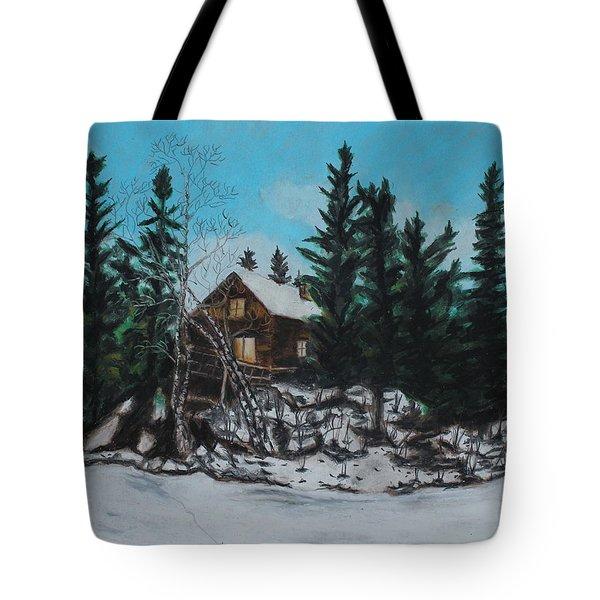 Winter Marshland Tote Bag