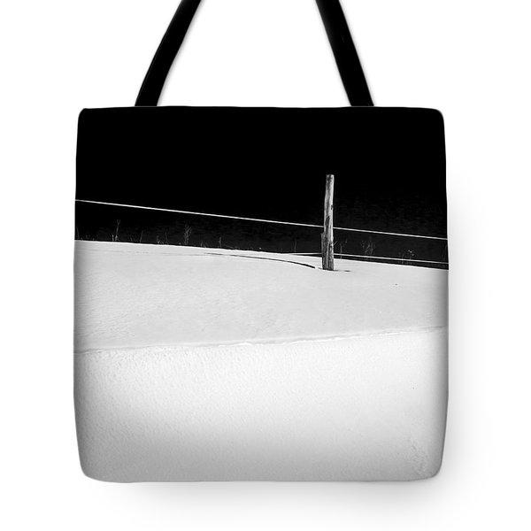Winter Minimalism Black And White Tote Bag