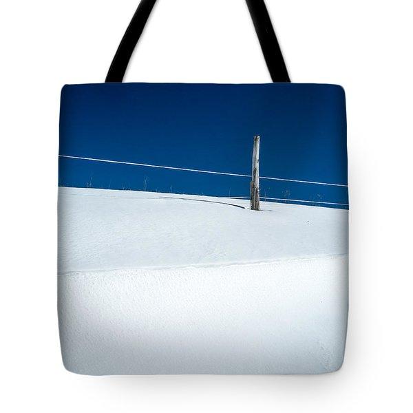 Winter Minimalism Tote Bag