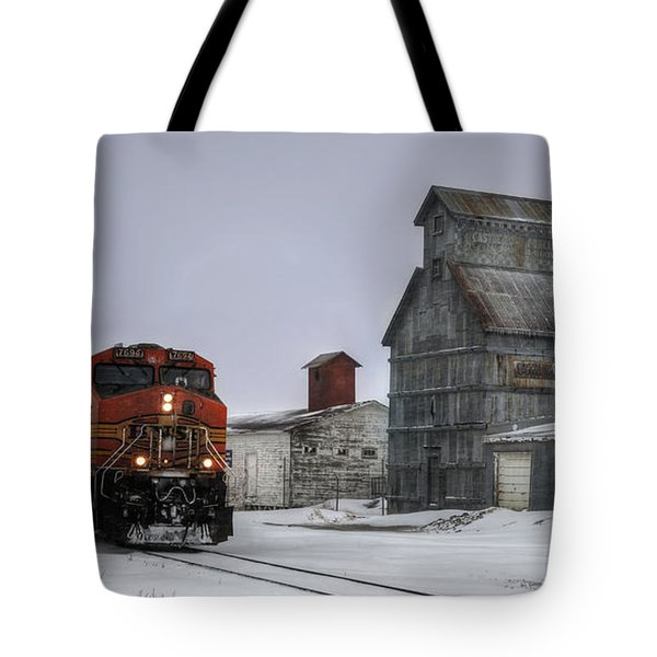 Winter Mixed Freight Through Castle Rock Tote Bag