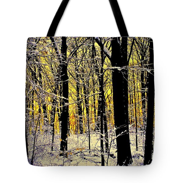 Winter Mood Lighting Tote Bag by Frozen in Time Fine Art Photography