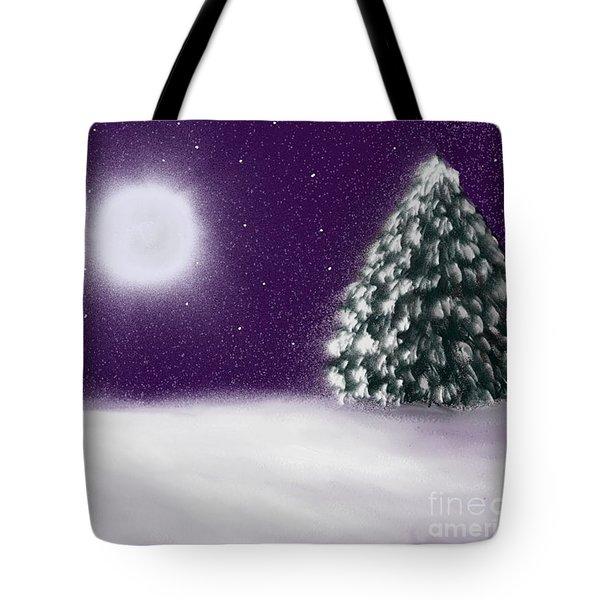 Winter Moon Tote Bag by Roxy Riou