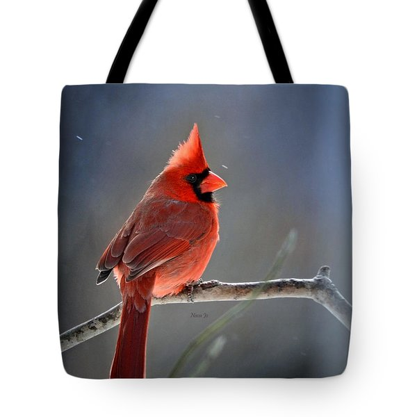 Winter Morning Cardinal Tote Bag