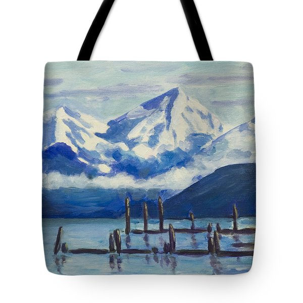 Winter Mountains Alaska Tote Bag