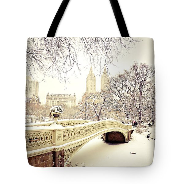 Winter - New York City - Central Park Tote Bag by Vivienne Gucwa