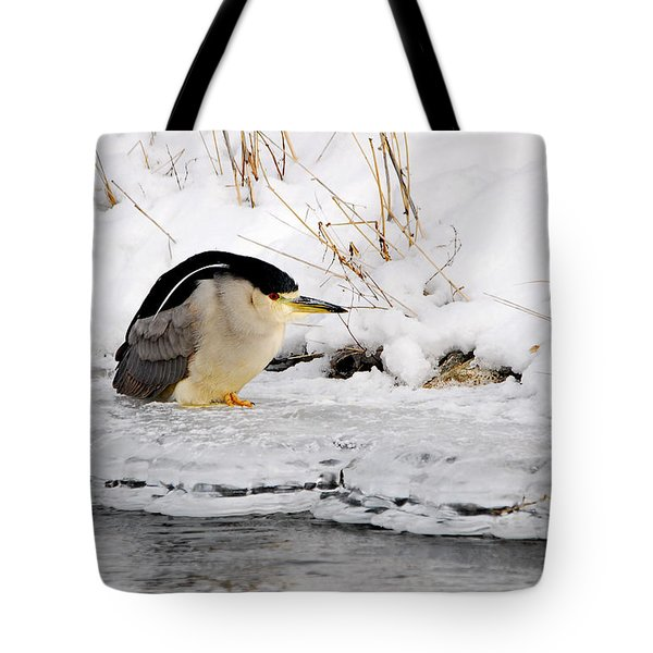 Winter Night Heron Tote Bag