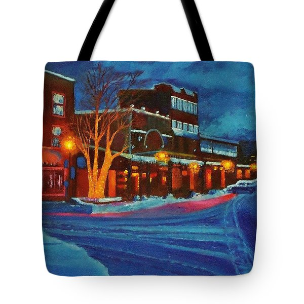 Winter Night In Truckee Tote Bag