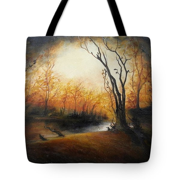 Winter Night Tote Bag by Sorin Apostolescu