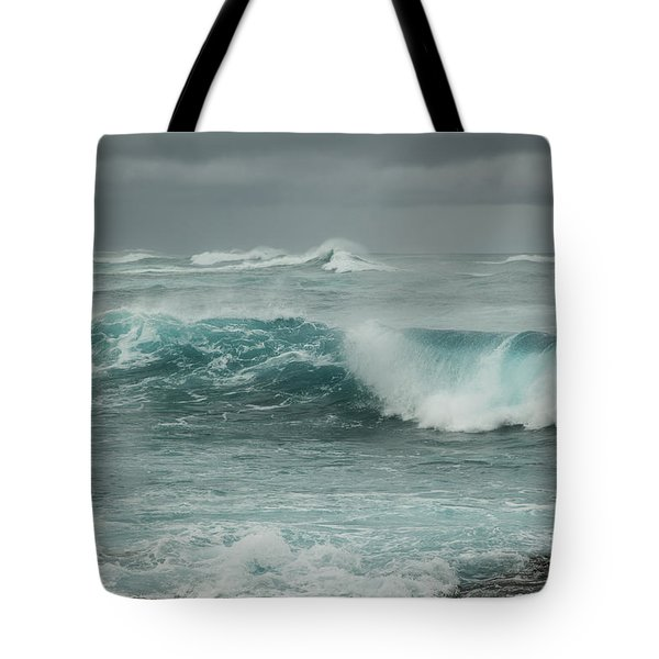Tote Bag featuring the photograph Winter North Shore Wave by Charmian Vistaunet