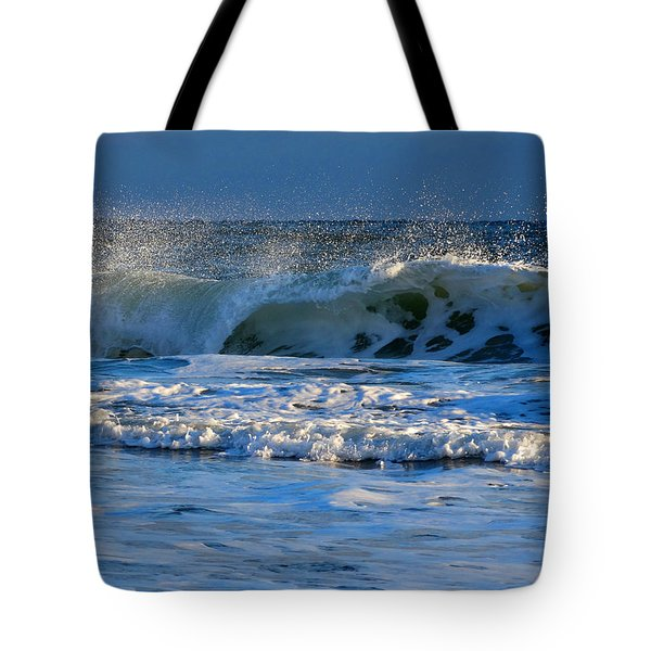 Winter Ocean At Nauset Light Beach Tote Bag