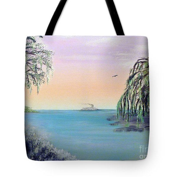 Winter On Lake Ponchartrain Tote Bag by Alys Caviness-Gober