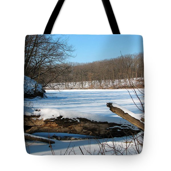 Winter On Sauk Lake 2 Tote Bag