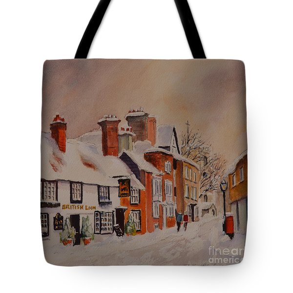 Winter On The Bayle Folkestone Tote Bag by Beatrice Cloake