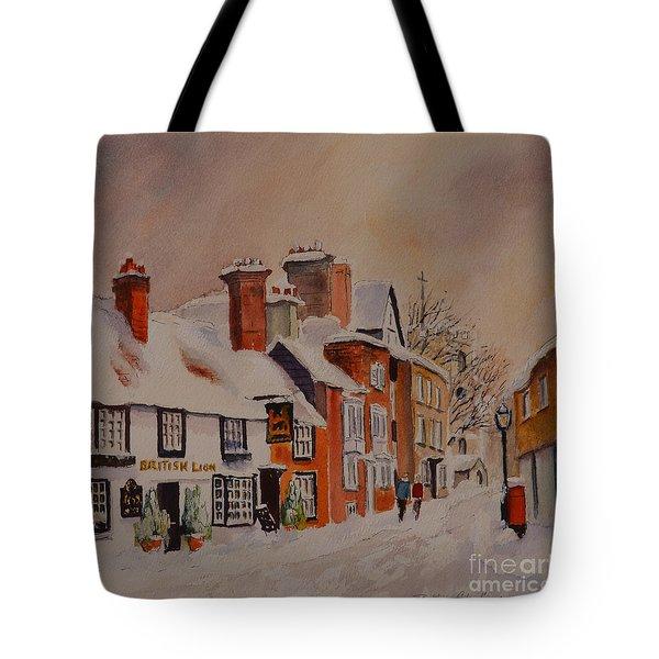 Winter On The Bayle Folkestone Tote Bag