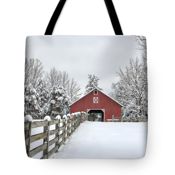 Winter On The Farm Tote Bag