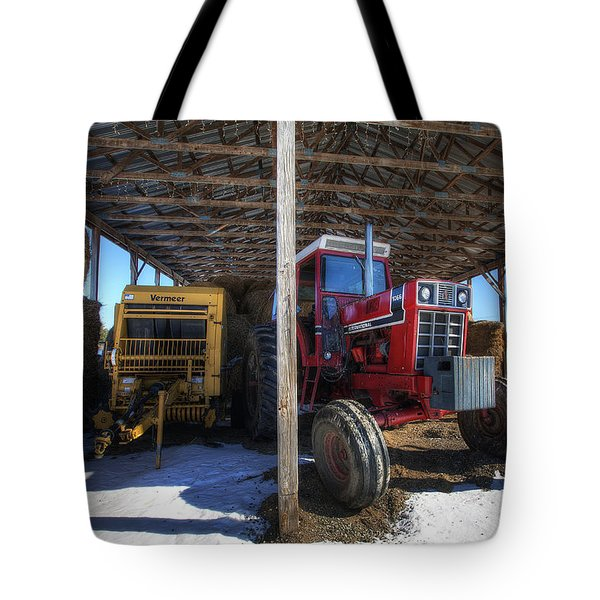 Winter On The Farm Tote Bag by Eric Gendron