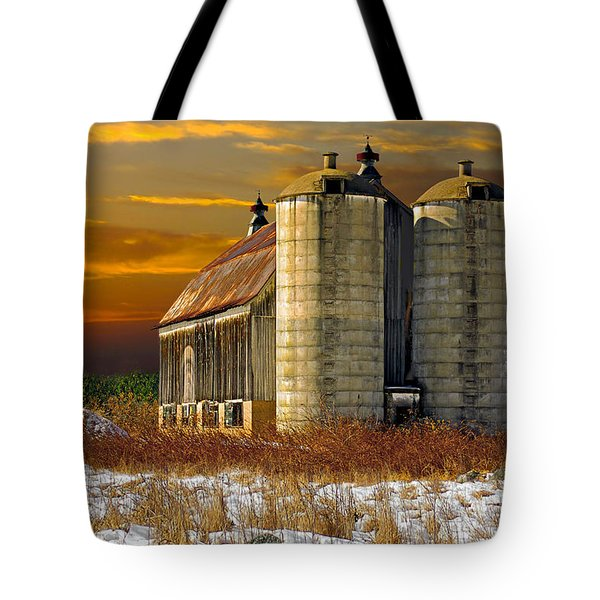 Tote Bag featuring the photograph Winter On The Farm by Judy  Johnson
