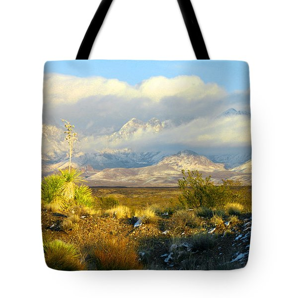 Winter In The Organ Mountains Tote Bag by Jack Pumphrey