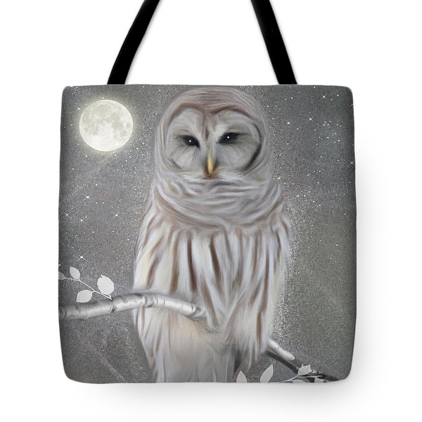 Winter Owl Tote Bag by Nina Bradica