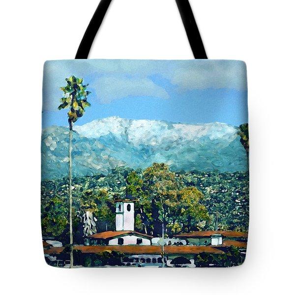 Winter Paradise Santa Barbara Tote Bag