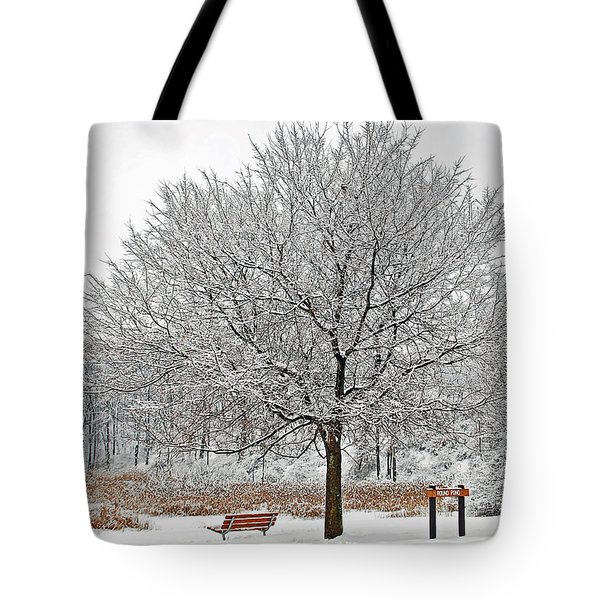 Winter Park Tote Bag by Aimee L Maher Photography and Art Visit ALMGallerydotcom