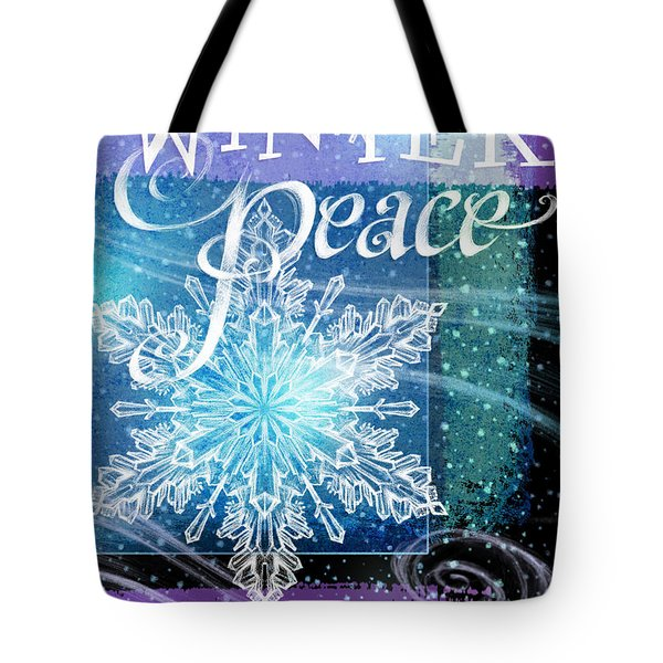Winter Peace Greeting Tote Bag