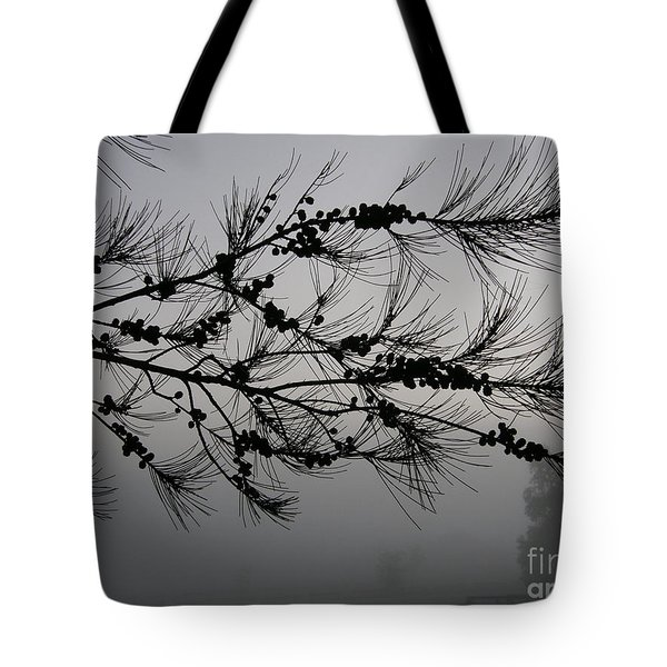 Winter Pine Branch Tote Bag