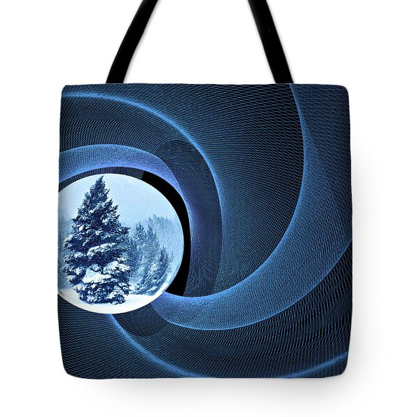 Tote Bag featuring the photograph Winter Pines by Judy  Johnson
