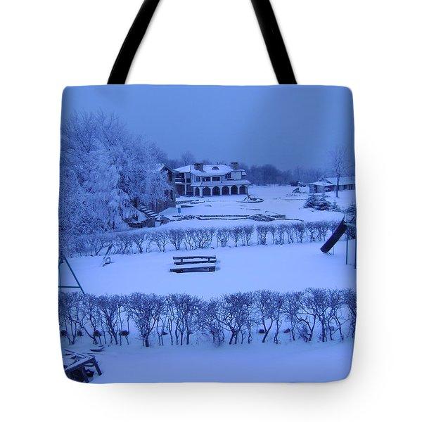 Winter Playground Tote Bag