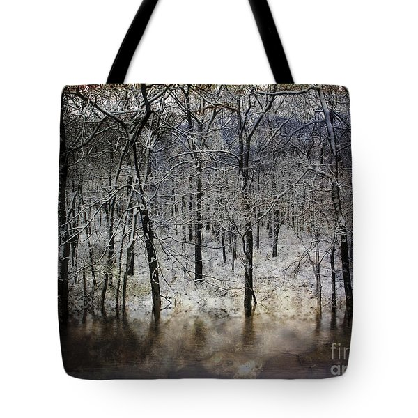 Winter Pond Tote Bag