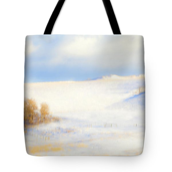 Winter Poplars Tote Bag