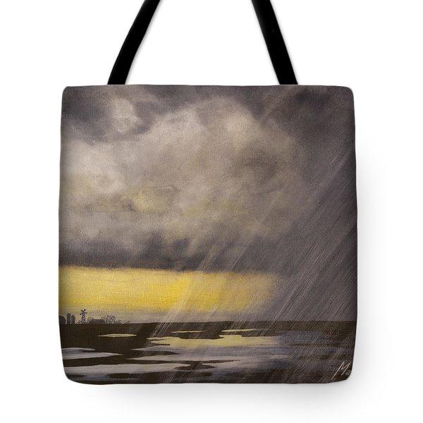 Winter Rain Tote Bag